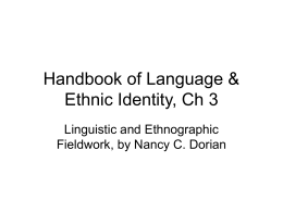 Handbook of Language & Ethnic Identity, Ch 3