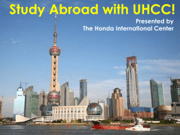 Study Abroad with UHCC! - Kapiolani Community