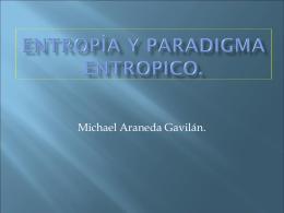 Entropía y paradigma entropico.