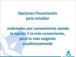 Opciones Financiación