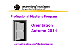 Professional Master`s Program