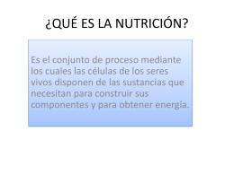 QUÉ ES LA NUTRICIÓN