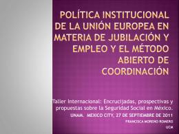 POLÍTICA INSTITUCIONAL DE LA UNIÓN EUROPEA EN