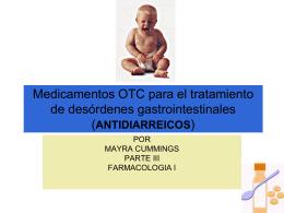ANTIDIARREICOS - Farmacologia I