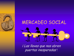 MERCADEO SOCIAL - Institución