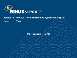 Title Goes Here - Binus University