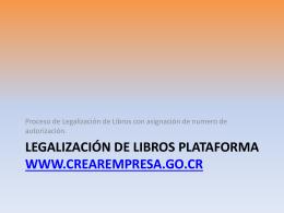 Legalización de Libros Plataforma