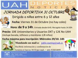JORNADAS DEPORTIVAS 2014
