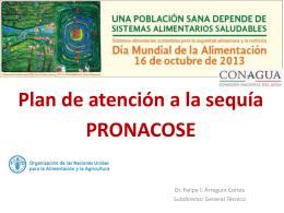 Plan de atención a la sequía PRONCOSE