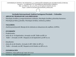 UNIVERSIDAD CENTRAL DE VENEZUELA y la ASOCIACIÓN