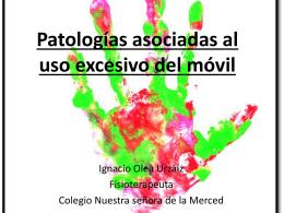 Patologías asociadas al uso del móvil
