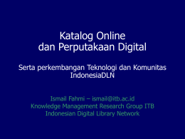 Katalog Online vs Perputakaan Digital Serta