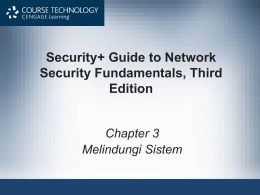 Security+ Guide to Network Security Fundamentals,