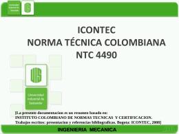 ICONTEC NORMA TÉCNICA COLOMBIANA NTC 4490