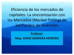 Eficiencia de los mercados de capitales: La