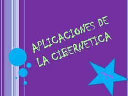 APLICACIONES DE LA CIBERNETICA