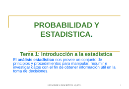 Tema 1: Introducción a la estadística descriptiva