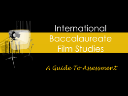 International Baccalaureate Film Studies