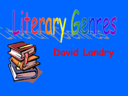 Literary Genres - Rockvale Middle School