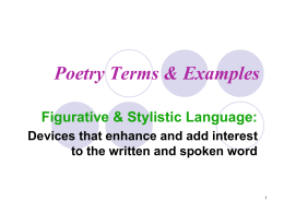 Poetry Terms & Examples