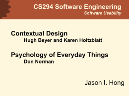Software Engineering and Usability
