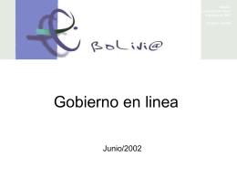 FTAA.ecom/inf/141/Add.3 4 de junio de 2002 Bolivia