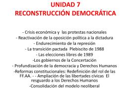 UNIDAD 7 RECONSTRUCCIÓN DEMOCRÁTICA