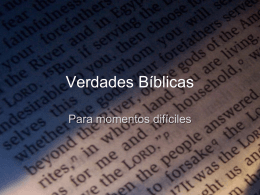 Verdades Bíblicas - Lic. Mateo Bixby