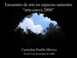 Proyecto de creación artistica en una cueva