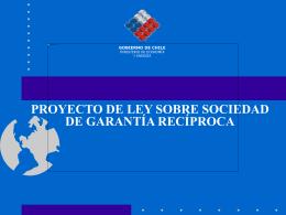 Gobierno de Chile Ministerio de Economía