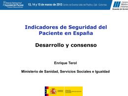 EL MINISTERIO DE SANIDAD Y CONSUMO EN LA UNIÓN