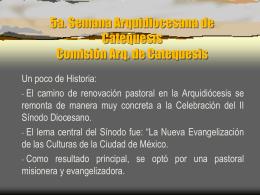 5a. Semana Arquidiocesana de Catequesis Comisión