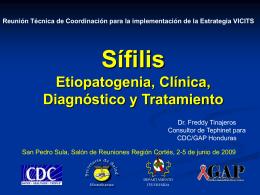 Sífilis Clínica, Etiopatogenia, Diagnóstico y