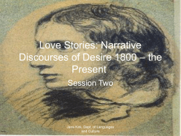 Love Stories: Narrative Discourses of Desire 1800
