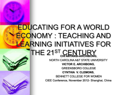 EDUCATING FOR A WORLD ECONOMY : TEACHING AND