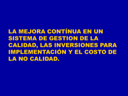 COSTOS DE CALIDAD. - Dirección de Posgrado