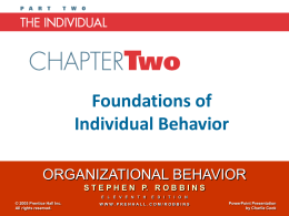 Organizational Behavior 11e