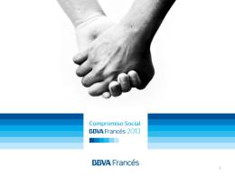 Diapositiva 1 - COMPROMISO SOCIAL BBVA FRANCÉS