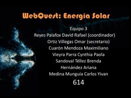 WebQuest: Energía Solar