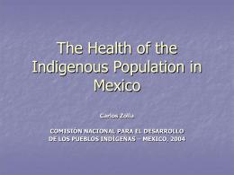 La salud de los pueblos indígenas de México
