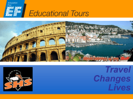 Why travel on an educational tour?