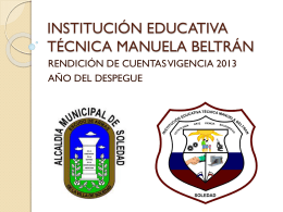 INSTITUCIÓN EDUCATIVA TÉCNICA MANUELA BELTRÁN