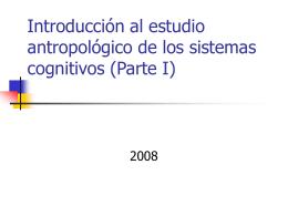 Introducción al estudio antropológico de los