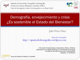 Demografía, envejecimiento y crisis ¿Es sostenible