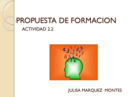 PROPUESTA DE FORMACION