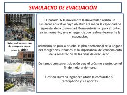 SIMULACRO DE EVACUACIÓNN