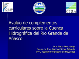 Avalúo de materiales educativos sobre la Cuenca