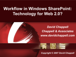 Workflow in Windows SharePoint: Technology for Web