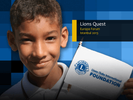 Europa Lions Quest - Lions Clubs International