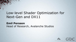 Low-level Shader Optimization for Next